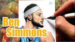 Drawing technique, Ben Simmons - Philadelphia 76ers -