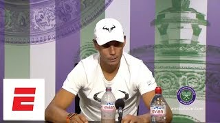 [FULL] Rafael Nadal Wimbledon post semifinal 2018 press conference | ESPN