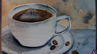 6 x 6 Art Challenge - Coffee