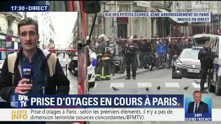 PRISE D'OTAGE EN COURS À PARIS (SOURCE BFMTV)