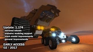 Space Engineers - Update 01.174 DEV - Mirrored Wheels