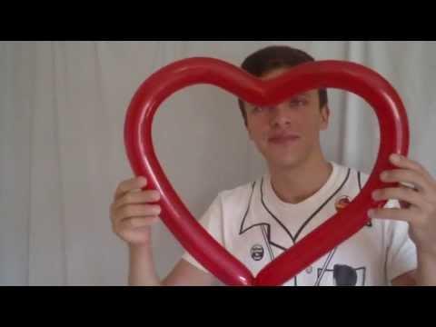 Сердце с сердечками из шаров / Cellure heart of hearts balloons, twisting
