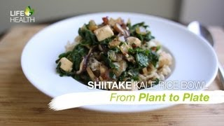 Asian Shiitake Kale Rice Bowl