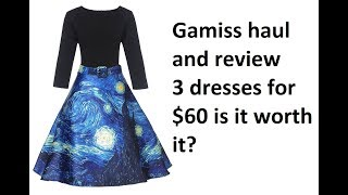 GAMISS haul review dresses starry night dress poka dot wrap dress