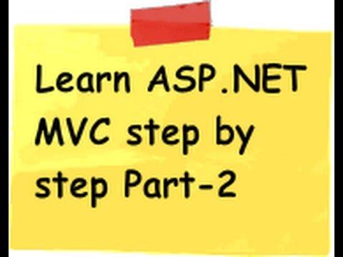 ASP.NET MVC Model view controller ( MVC) Step by Step Part 2