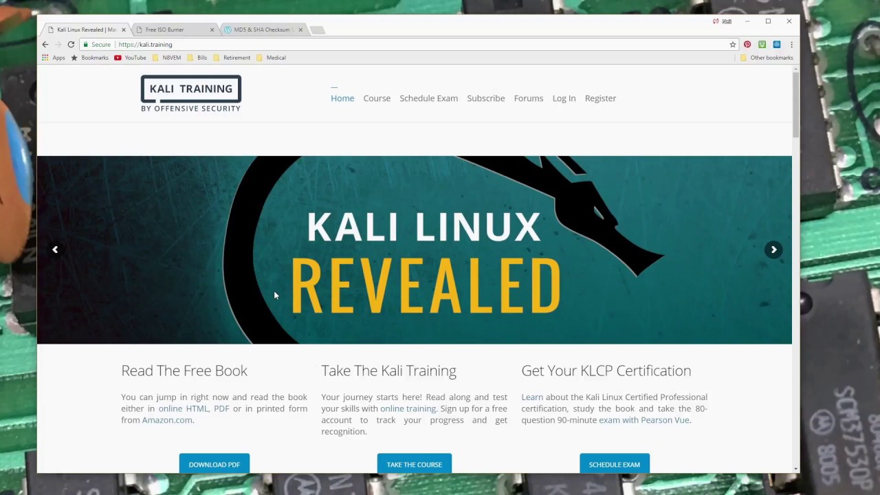 kali-linux - Part 1 - 18 1 ISO download, verify and burn to DVD-R - STB132