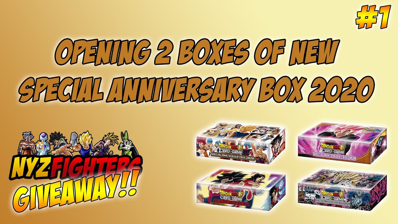 Opening 2 Special Anniversary Box 2020 Unboxing Dbs Be13 Dragon Ball Super Card Game Youtube