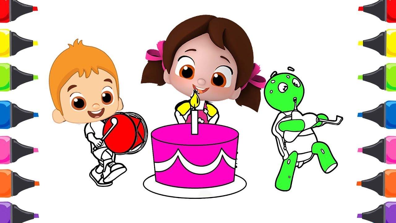 Niloya Mete Tospik Doğum Günü Partisi Boyama Renkleri öğreniyorum