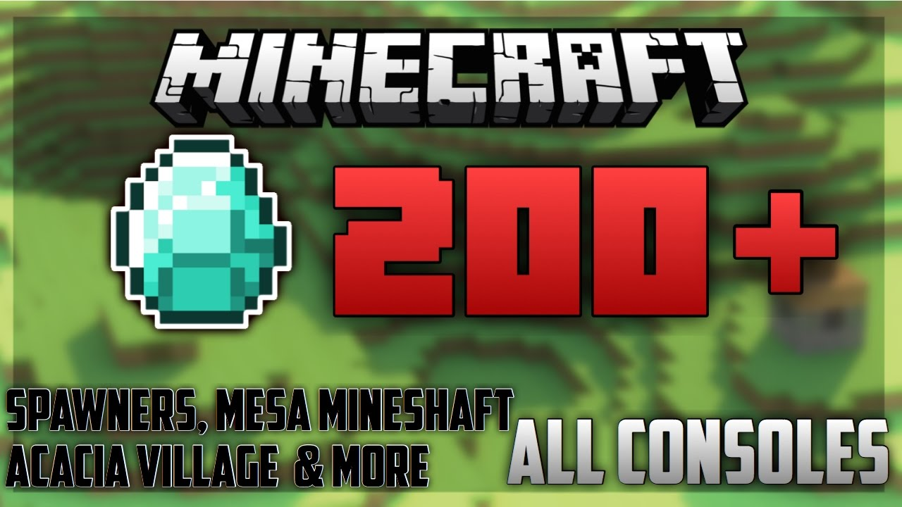 Minecraft Ps4 Best Seed Ever 200 Diamonds Youtube