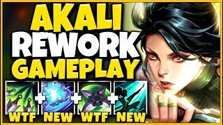 FIRST EVER 2020 AKALI REWORK GAMEPLAY (TARGETED ULT + SHROUD CHANGES) - League of Legends