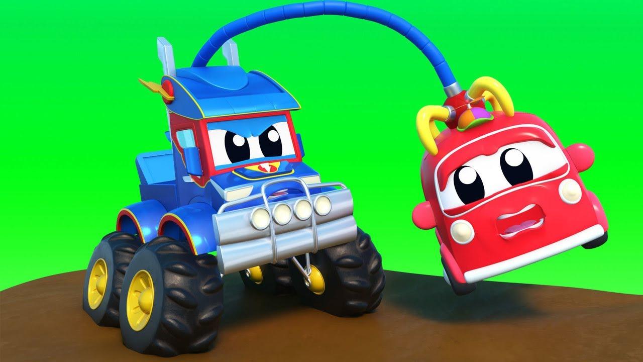 Các xe hơi nhí bị kẹt trong bùn - Thành phố xe hơi - Hoạt hình thiếu nhi