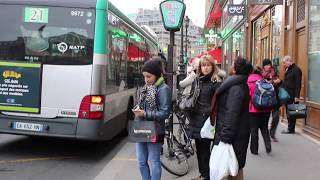 Traveling by bus in Paris, lessons of courtesy and patience.