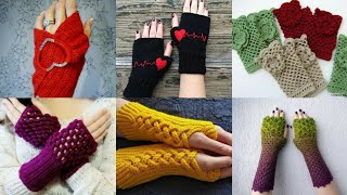 Stylish And Gorgeous Hand Crochet gloves Designs