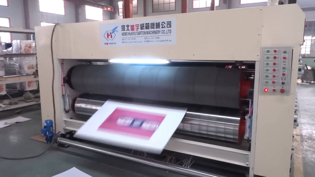 Automatic 4 color printer slotter die cutter machine for carton box (1426)