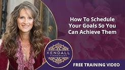 How To Schedule Your Coaching Goals So You Can Achieve Them | Coach Training with Kendall SummerHawk