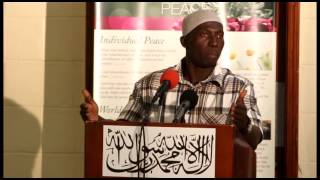 Abu Bakar Sessay speech on the topic An Ahmadi Muslim – Source of Peace for Neighbours