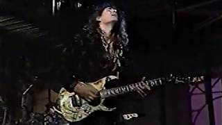 Steve Vai performs on late night TV in September 1990