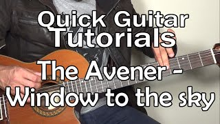 The Avener & Kim Churchill - Window to the sky (Quick Guitar Tutorial + Tabs)