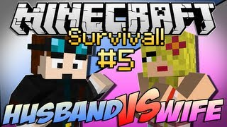 "Minecraft | HUSBAND vs WIFE SURVIVAL! | Episode 5 ""Enter The Stronghold"""