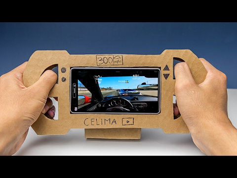 how-to-make-a-gaming-steering-wheel-from-cardboard-for-smartphone-(diy)
