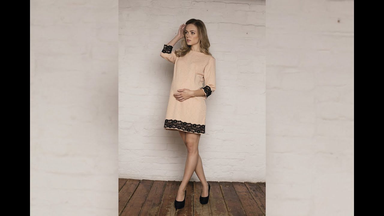 Тёплые платья-карандаши с имитацией кружева и вышивки - YouTube