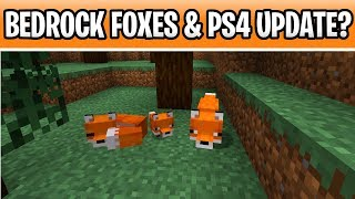 Minecraft Bedrock Foxes Release Delayed+ PS4 Village & Pillage Update? 1.14/ 1.15
