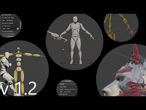 Blender To UE4 - Mr Mannequins Tools (v1.2) - Fast And Compatible Characters! - Free Addon