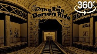 Ink Demon Roller Coaster VR 360 4K - Bendy Style Roller Coaster