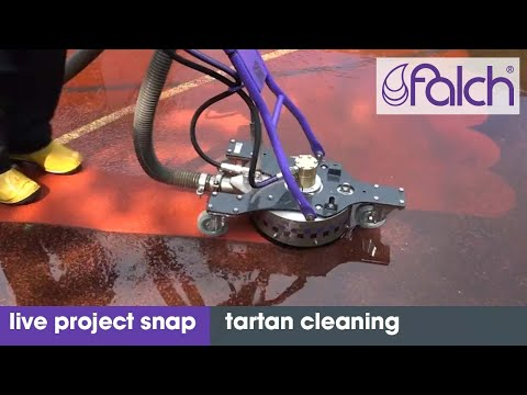 Live Project Snaps - Cleaning Tartan Sports Ground