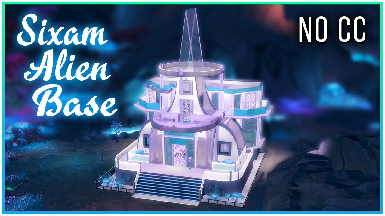 Sims 4 Speed Build - Sixam Alien Base | Kate Emerald
