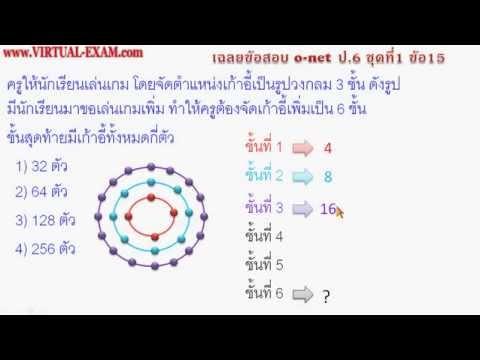 เฉลยข้อสอบ O-NET ป.6 ชุดที่ 1 ข้อ 15