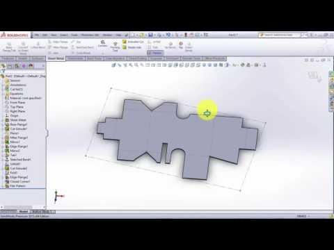 Solidworks Sheet metal tutorial 2017 - Basics Techniques