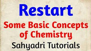 MHT-CET | Restart  Somr Basic Conceps Of Chemistry