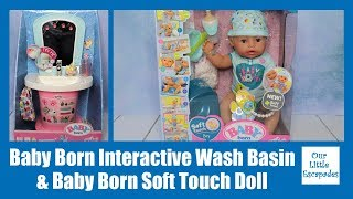 Baby Born Interactive Wash Basin & Baby Born Soft Touch Doll Unboxing Review - Baby Born Boy Doll