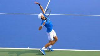 Novak Djokovic Serve Slow Motion - ATP Tennis Serve Technique
