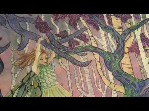 Fairy tale mural of an enchanted forest youtube for Fairy tale mural