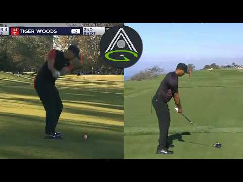 Tiger Woods Swing at the 2018 Farmers   Improve Early Extension