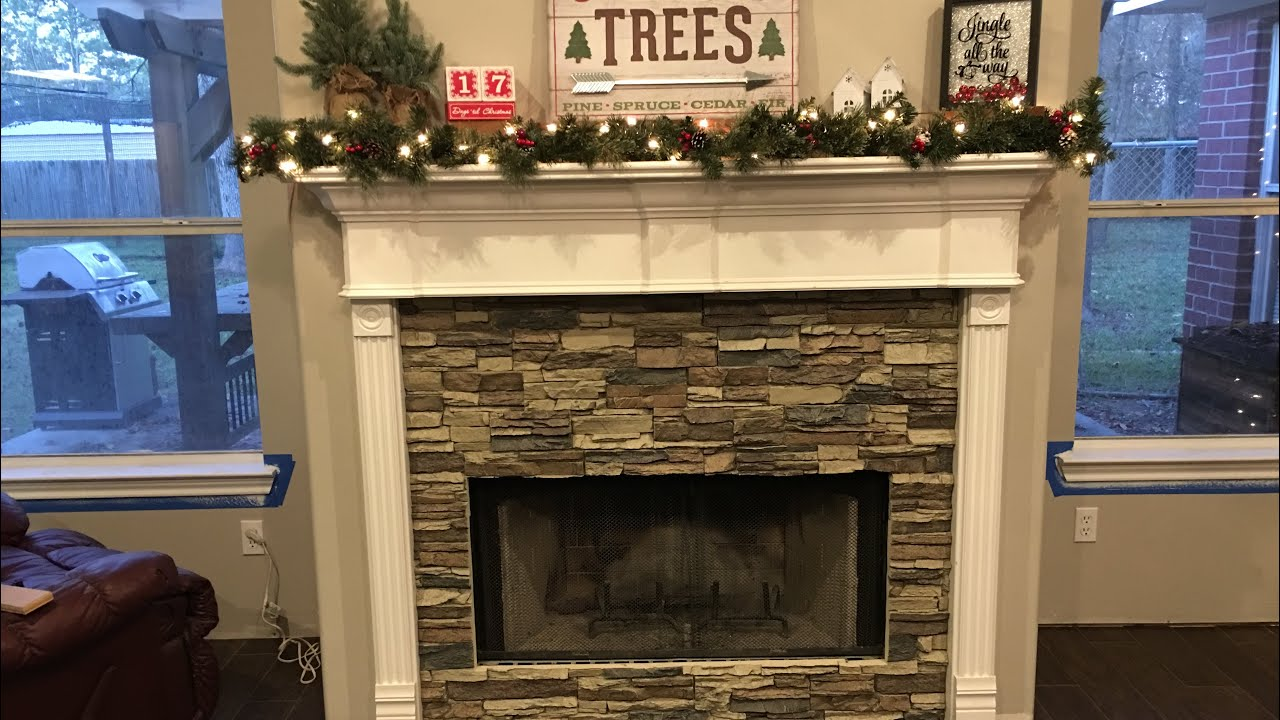 Diy Fireplace Makeover Faux Stone