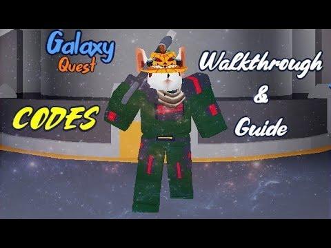 Roblox Galaxy Quest Walkthrough And Codes Youtube