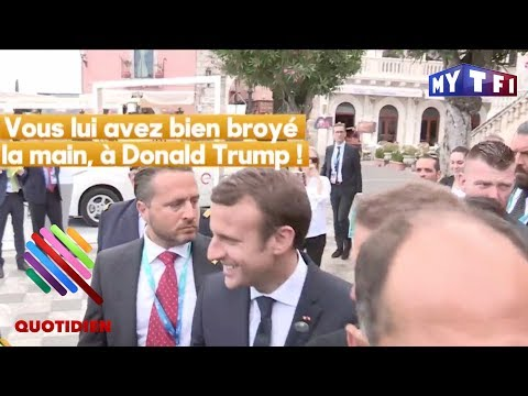 Emmanuel Macron, fier de sa poignée de main avec Donald Trump !  - Quotidien du 31 mai 2017