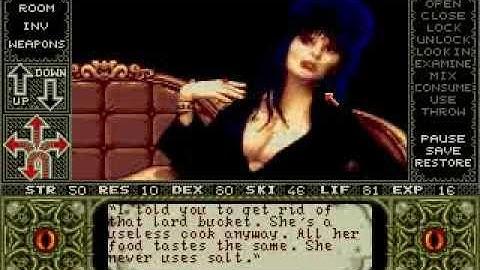 Amiga Longplay Elvira - Mistress Of The Dark
