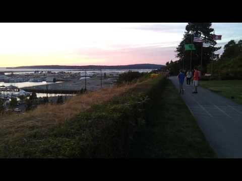 Grand Avenue Park, Naval Station Everett, Reveille, and Everett Marina, washington, July 17, 2017