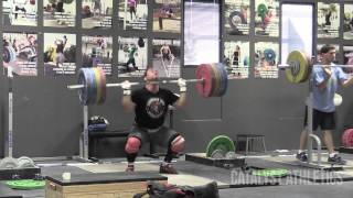 Vasily Polovnikov Clean with no Jump Workout up to 210 kg (463 lbs)