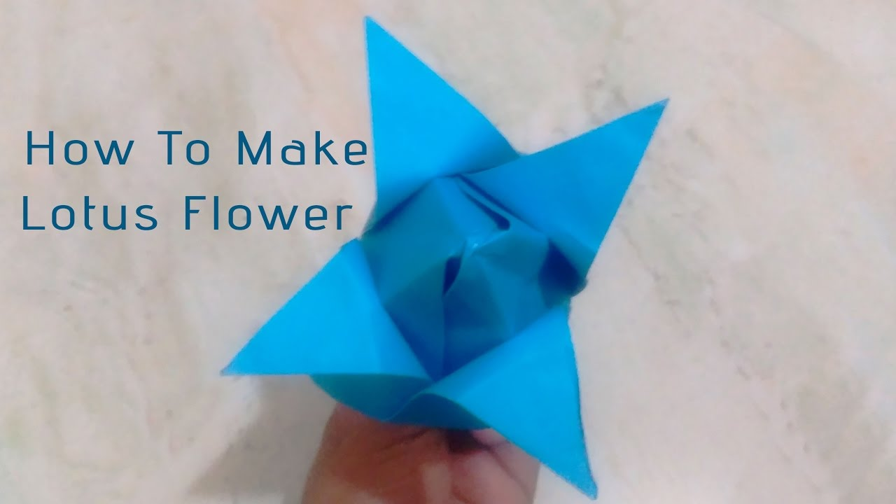 Diy crafts how to make paper flowers origami lotus for How to make a lotus with paper