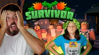 DADDY THE FAT CHUNKS GETS KICKED OUT OF ROBLOX SURVIVOR! CRAZY FAMILY GAME! LEADERS BATTLE | WPFG
