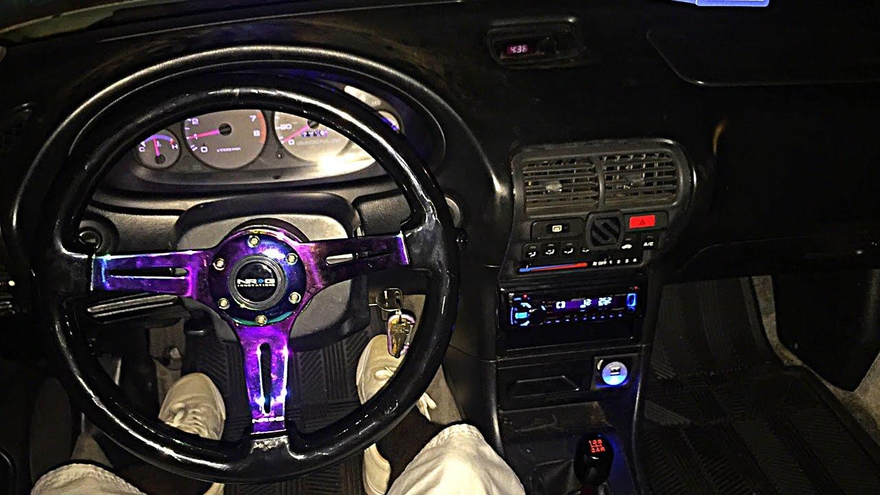 Acura Integra Removing Factory Steering Wheel Installing A Nrg