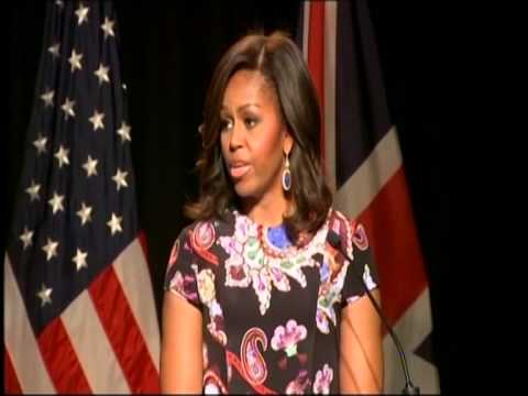 US First Lady Mishel Obama Visits Mulberry School for Girls London