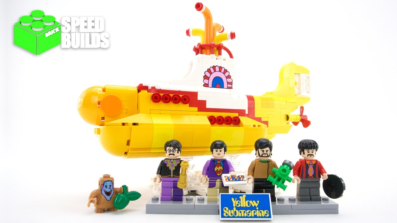 Lego Yellow Submarine Speed Build