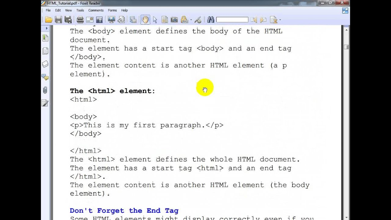 TABLE TAG IN HTML PDF TUTORIAL EBOOK DOWNLOAD