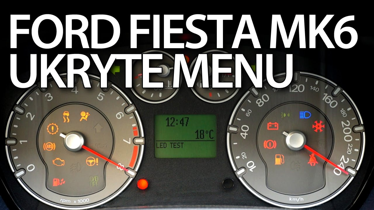 Ukryte Menu Ford Fiesta Mk6 Diagnostyka Dtc Tryb